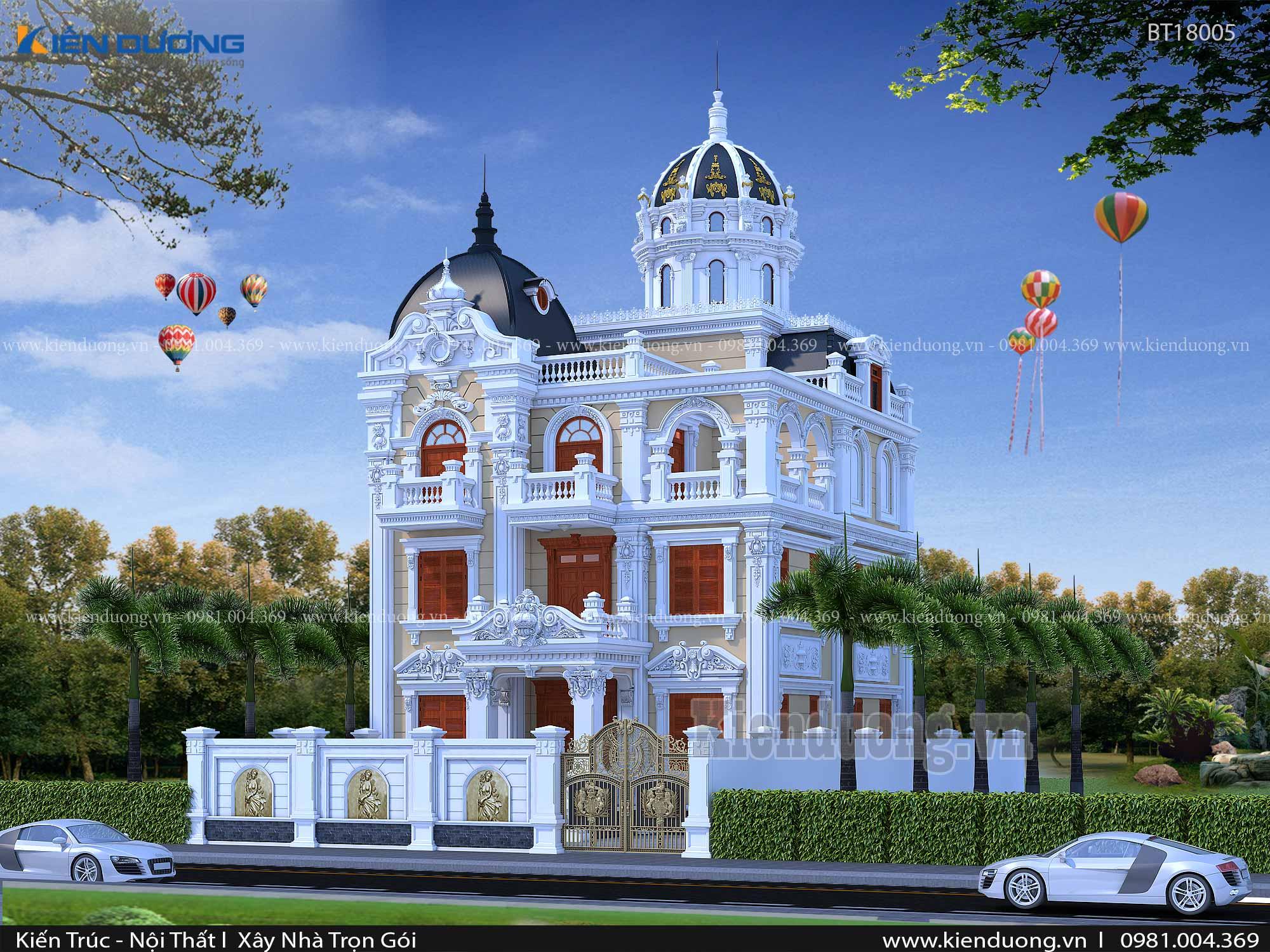 lâu đài kiểu pháp đẹp