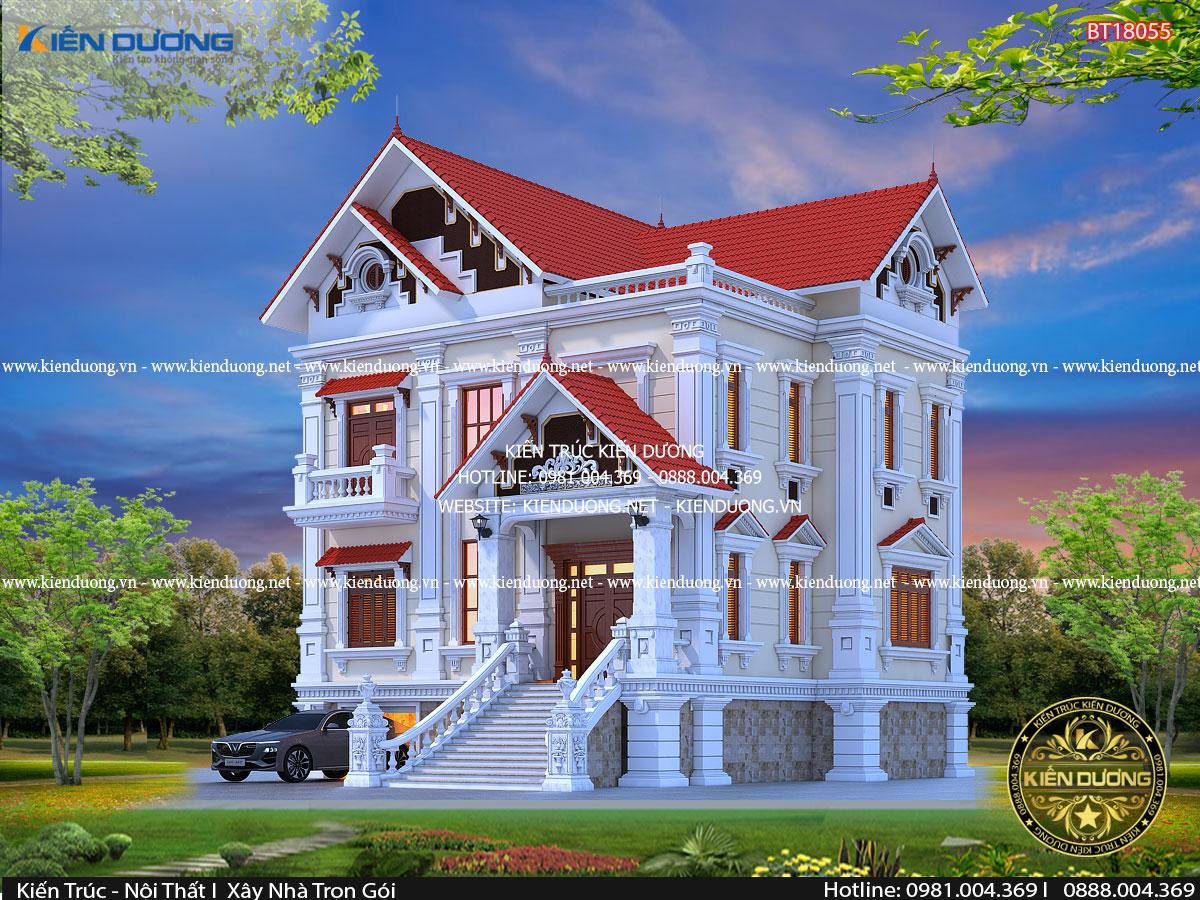 biệt thự tân cổ điển 2 tầng đẹp