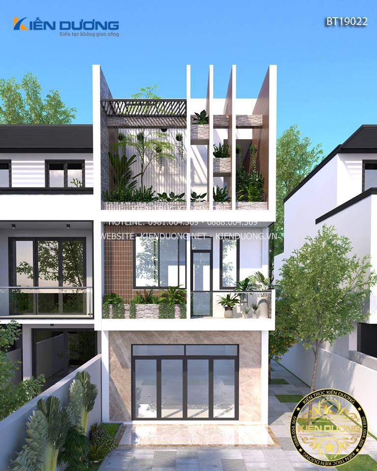 mẫu thiết kế nhà mặt phố đẹp